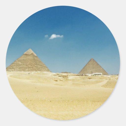 Pirámides Pegatina Redonda