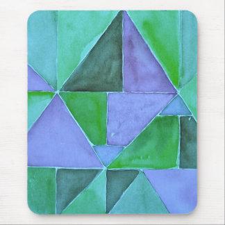 Pirámides verdes y púrpuras Mousepad Tapetes De Ratones