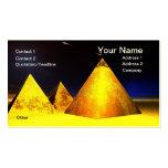 Piramids de oro BusinessCard Plantillas De Tarjetas De Visita