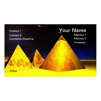 Piramids de oro BusinessCard Tarjetas De Visita
