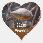 Piraña - Innocent que mira los pescados de Brown Pegatinas