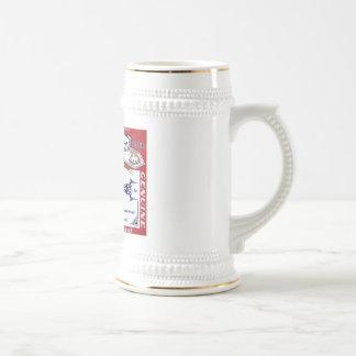 Piranah beer stein coffee mug