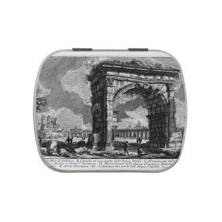 Piranesi-Arco de Juan de Gallienus Frascos De Caramelos