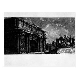 Piranesi-Arco de Juan de Septimius Severus Tarjeta Postal