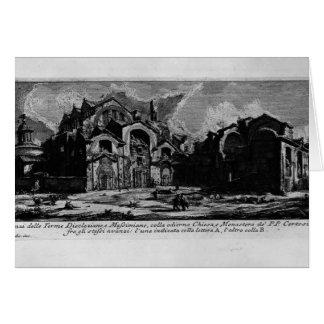 Piranesi-Baños de Juan de Diocletian Tarjeta De Felicitación