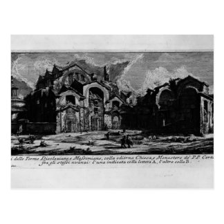 Piranesi-Baños de Juan de Diocletian Tarjeta Postal