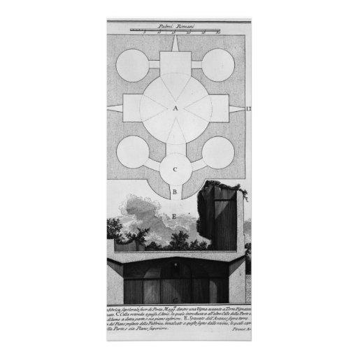 Piranesi-Cruz-sección de Juan de la urna grande Diseño De Tarjeta Publicitaria