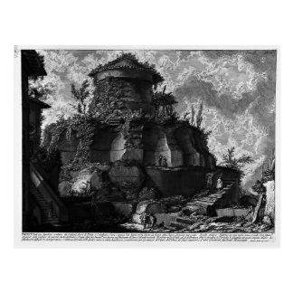 Piranesi-Elevación de Juan de la tumba de Scipios Tarjetas Postales