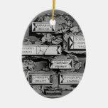 Piranesi-Inscripciones de Juan de la cámara de ent Ornaments Para Arbol De Navidad