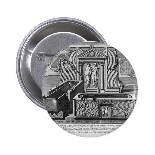 Piranesi-Inscripciones de Juan de la cámara de ent Pin Redondo 5 Cm