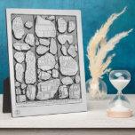 Piranesi-Mapa de Juan de Rome&Forma antiguo Urbis Placas De Plastico
