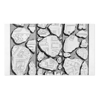 Piranesi-Mapa de Juan de Rome&Forma antiguo Urbis Plantilla De Tarjeta Personal