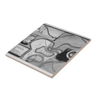 Piranesi-Placa de Juan de la topografía de Roma Azulejo Cerámica