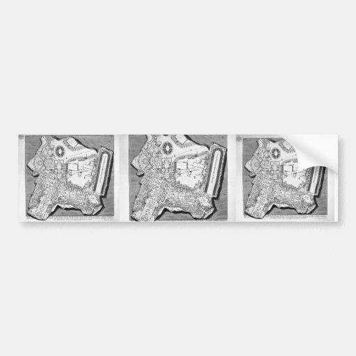 Piranesi-Plan de Juan de los baños de Diocletian Etiqueta De Parachoque