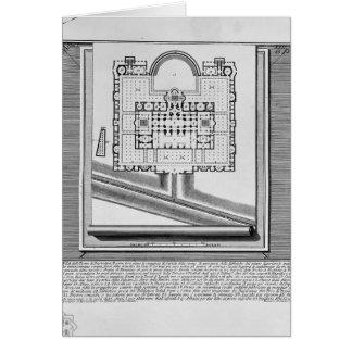 Piranesi-Plan de Juan de los baños de Diocletian Tarjeta De Felicitación