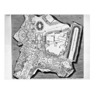 Piranesi-Plan de Juan de los baños de Diocletian Postales