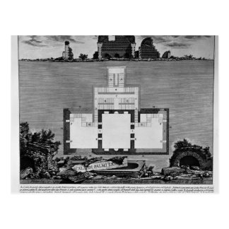 Piranesi-Vista de Juan de una tumba más vieja Postal