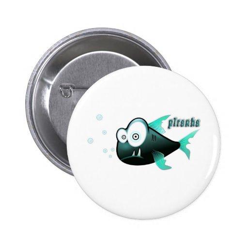 Piranha 2 Inch Round Button