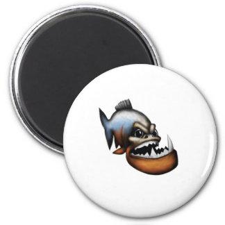 Piranha 2 Inch Round Magnet