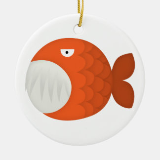 piranha attack! ceramic ornament