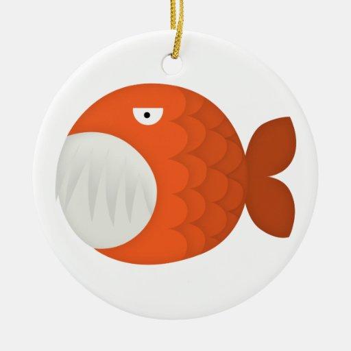 piranha attack! christmas ornament