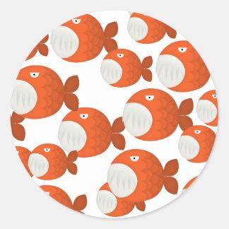 piranha attack stickers