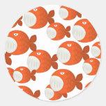 piranha attack! stickers