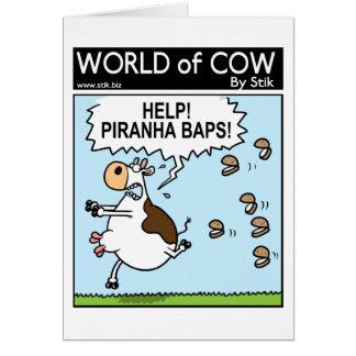 PIRANHA BAPS! CARD