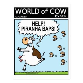PIRANHA BAPS! POSTCARD