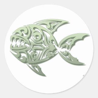 Piranha Classic Round Sticker