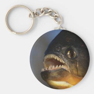 Piranha Close-Up Basic Round Button Keychain
