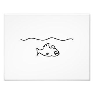 piranha fish bit tooth photo print