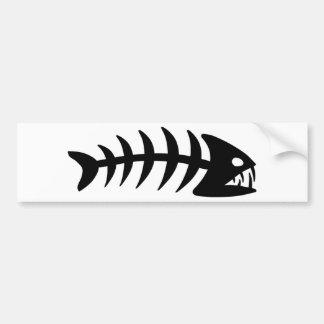 Piranha Fish Bone Car Bumper Sticker