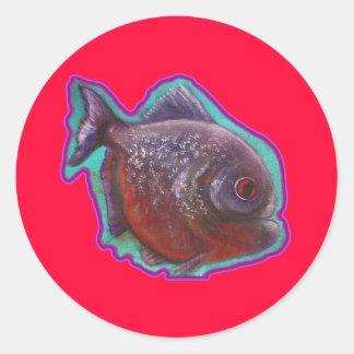 Piranha Fish Classic Round Sticker