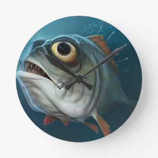 PIRANHA FISH. CLOCK