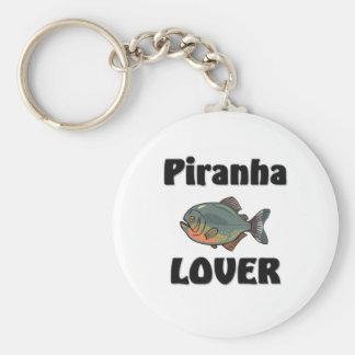 Piranha Lover Basic Round Button Keychain