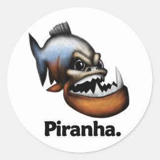 Piranha Piranha. Classic Round Sticker