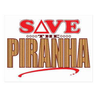 Piranha Save Postcard