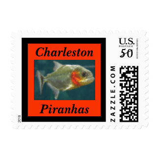 Piranha School Mascot postage stamp