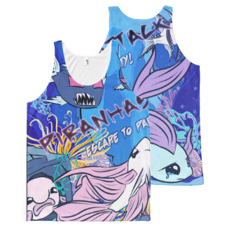 Piranhas Attack All-Over-Print Tank Top