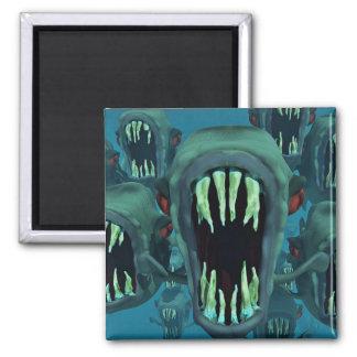 Piranhas Fish Custom Personalize Anniversaries 2 Inch Square Magnet