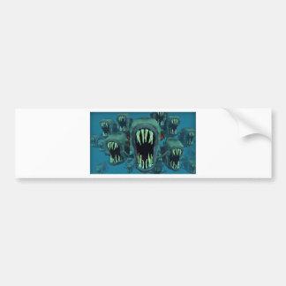 Piranhas Fish Custom Personalize Anniversaries Bumper Sticker