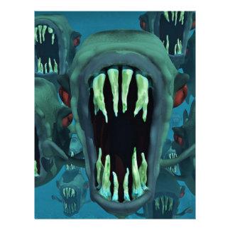 Piranhas Fish Custom Personalize Anniversaries Letterhead