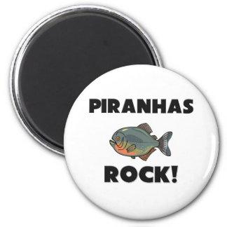 Piranhas Rock 2 Inch Round Magnet