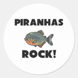 Piranhas Rock Classic Round Sticker