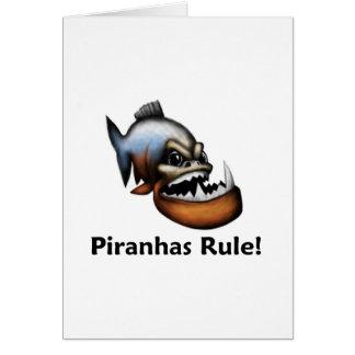 Piranhas Rule! Card