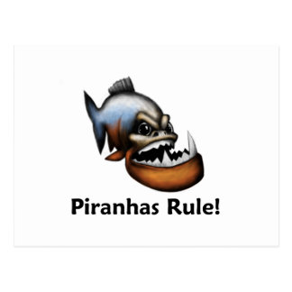Piranhas Rule! Postcard
