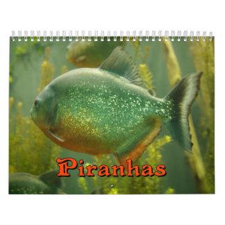 Piranhas Wall Calendar