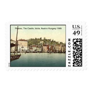 Pirano, The Castle, Istria, Austro-Hungary 1905 Postage