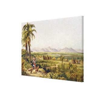 Pirara y lago Amucu, el sitio de Eldorado, impresi Lienzo Envuelto Para Galerias